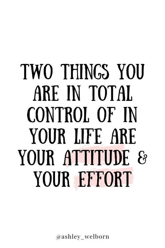 Attitude and Effort